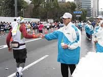 東京マラソンのボランティア参加