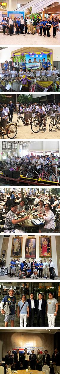 バンコクリサイル自転車贈呈ボランティア